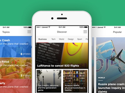 News App mobile ux ui news