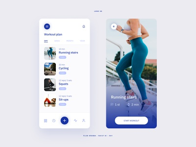 Daily UI #041 - Workout Tracker fitness fitness app mobile uidesignchallenge uxdesign ux design dailyui uiux minimalist workout app workout mobile app design ui design mobileappdesign mobileapp mobile app interface uidesign ux ui
