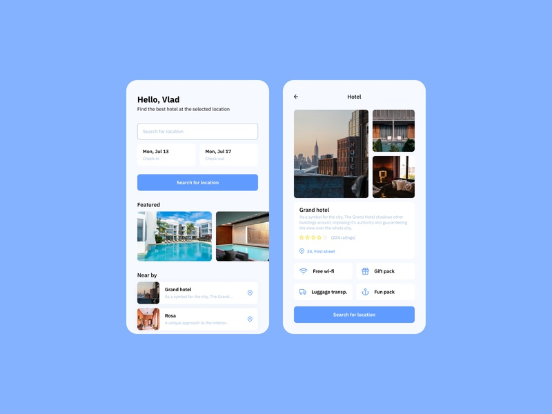 Daily UI #067 - Hotel Booking mobile interaction mobile design mobile application mobile interface interface design daily ui dailyui interfacedesign app design app mobile app design interface mobile ui mobile bookings booking app hotel booking booking mobile app hotel
