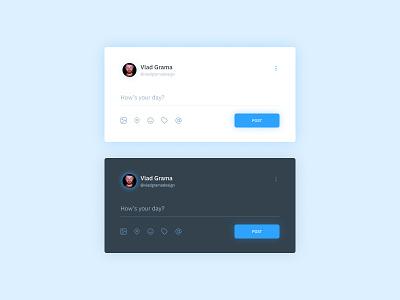 Daily UI #081 - Status Update app app design uidesign interface design ux designer dark dark mode ux design web app design web app web design interfacedesign social media design social media network social interface ui design ux ui