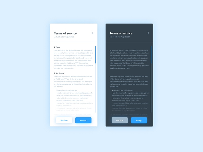 Daily UI #089 - Terms of service layout page design mobile app mobile app design interface design interfacedesign interface uiux uidesign ux design tos terms of service mobile ui app design mobileapp mobile uxui ui design ux ui