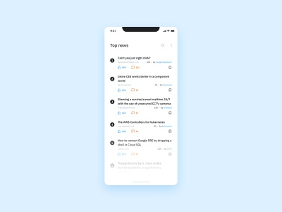 Daily UI #094 - (Hacker) News minimalist clean ui  ux uidesign ux  ui uxui ui design android ios mobile application mobile design mobile ui interface design app design app mobile app design mobile app ux ui