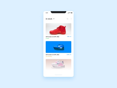 Daily UI #096 - Currently In-Stock design app design product design ui design product nike shoes uiux uidesign android ios application interface app mobile app design mobile app design mobile app ux ui