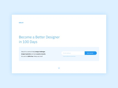 Daily UI #100 - Redesign Daily UI Landing Page homepage design home page uxui uiux onepage onepagelove design web app web app interface minimalist homepage home landing landing page ux ui daily ui dailyui