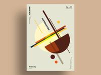 SUPREMATISM - Abstract minimalist poster design