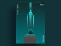 TRANSCENDENCE - Minimalist poster design