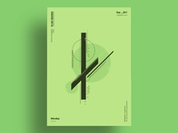ASYMMETRY - Minimalist poster design