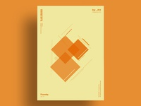 AMBER - Minimalist poster design