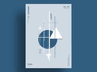 MARINE - Minimalist poster design
