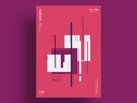 CURTAIN - Minimalist poster design