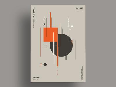 MIN - Minimalist poster design chromatic challenge lines brutalism flat design suprematism duotone black orange graphic simple poster print minimalism shapes geometric illustration minimalist composition
