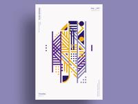 HACHI - Minimalist poster design