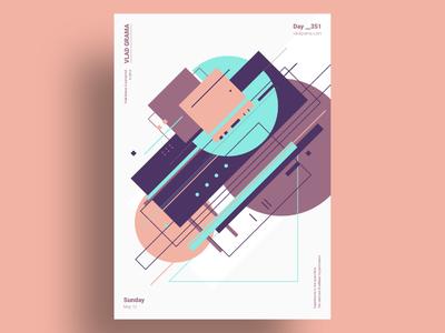 GRNR - Minimalist poster design