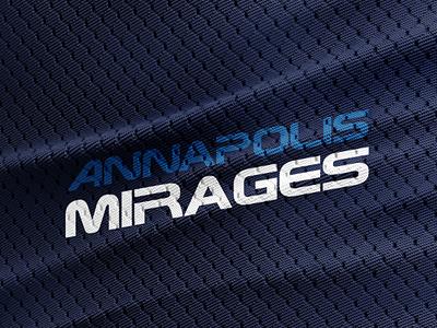 Annapolis MIRAGES wordmark sports logo football fantasy jets mirages anápolis annapolis
