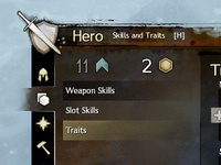 Guild Wars 2 Skill and Traits Equip Window