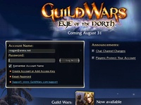 Login Screen for Guild Wars: Eye of the North