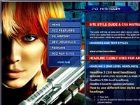 Perfect Dark Zero: Website Design
