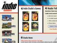 Indie Games Studio: website design