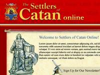 Settlers of Catan: website design