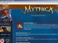 Mythica Website Design