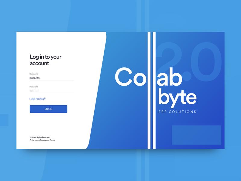 CollaByte 2.0 ERP Solution ux design application app ux userinterface design ui  ux ui design uiux ui software ui software design software