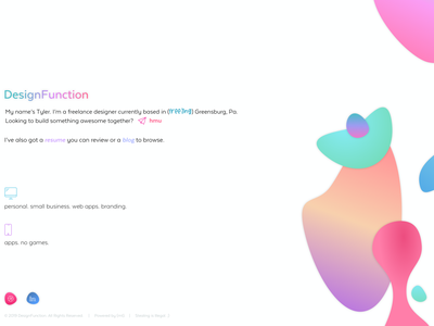 homepage preview blob gradient colorful fluid design website