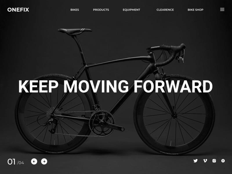 ONEFIX  Landing Page Concept website cycle bike ux web  design landing page ui ux