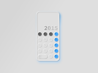 #DailyUI - 4 - Calculator digital skeumorphism gradient grey blue neumorphic design ui ux calculator dailyui