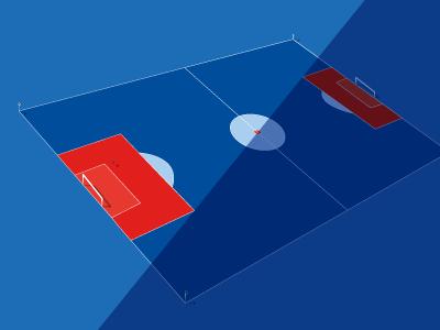 Football Pitch sport illustration dark blue red field soccer worldcup football