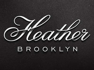 Heather heather script texture shadow typography
