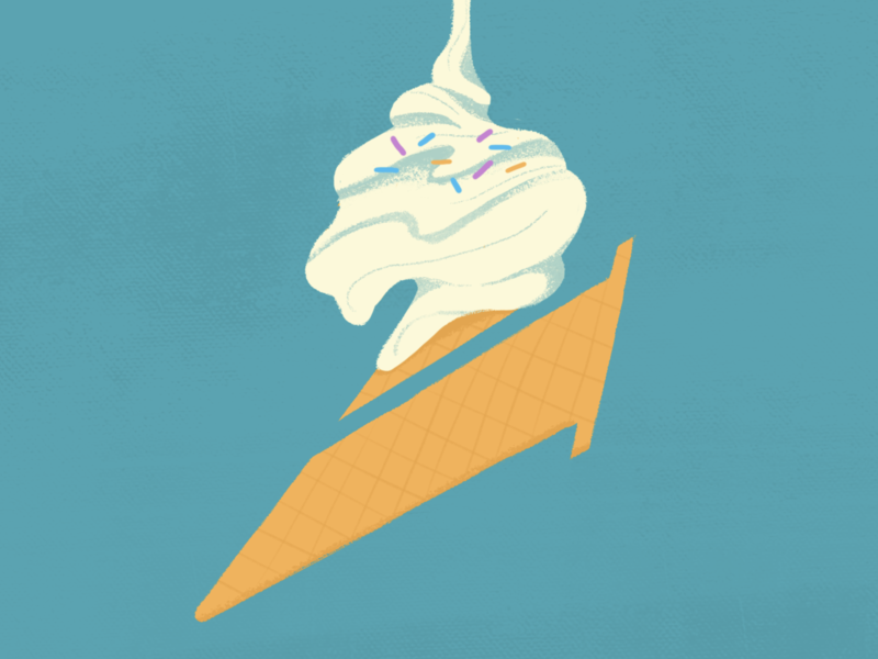 Ice Cream Two typography design fresh colorful logo illustration cel 2d