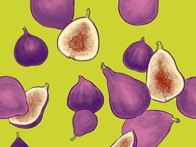 Fancy A Fig fruit textile design surface design repeat pattern pattern figs art licensing surface pattern design repeat illustration