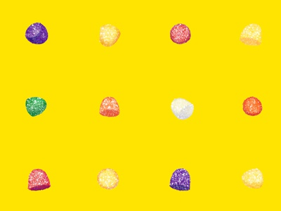 Gumdrops in Juicy Lemon gumdrops sweet candy food illustration illustration art licensing surface pattern design repeat pattern