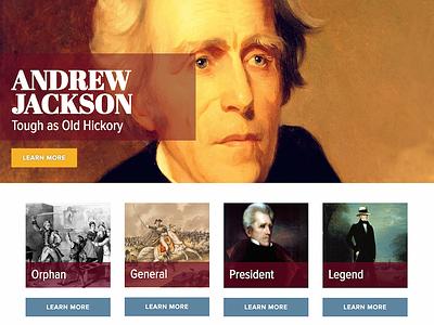Andrew Jackson's Hermitage - Website Design president history website historic