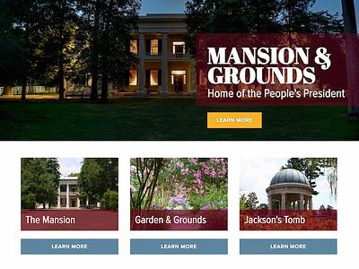 Andrew Jackson's Hermitage - Website Design history historic web design website