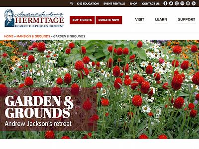 Andrew Jackson's Hermitage - Website Design web design president history website historic