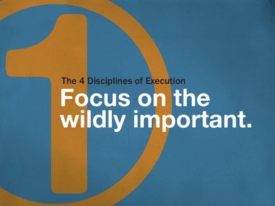 The 4 Disciplines of Execution number one presentation goal