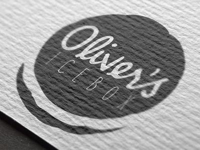 Olivers Icebox Logo food truck dessert nashville logo design food logo logo