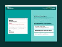 Cybersecurity Quiz Game Screen