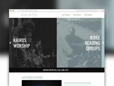 Kairos Nashville Website Design header color blocking church ministry web design ux website