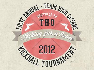 Kickball Tournament Logo kickball tournament logo sports nashville hipster