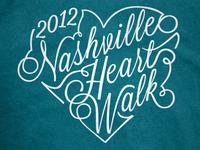 2012 Nashville Heart Walk T-Shirt Design