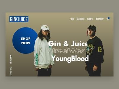 Gin&Juice adobexd webdeveloper webdesign ecoomerce design branding ux ui brandidentity