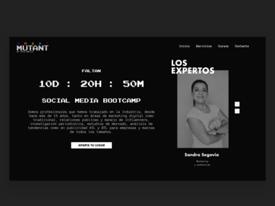Mutant Academy uidark dark design adobexd brandidentity webdesign uiux ui school