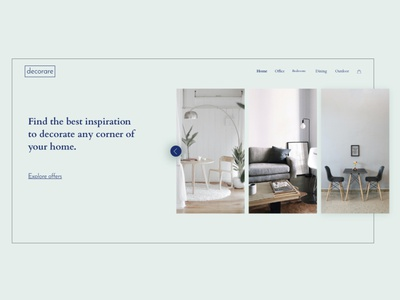 Decorare homepage frontend adobexd webdesign uiux ui forniture ecommerce