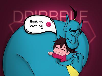 Thank You Hug thanks appreciated love invite hug hello dribbble debut aladdin genie