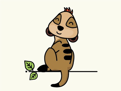 Meerkat © maya el murr timon and pumba lion king timon cute jungle icon animal illustration baby meerkat