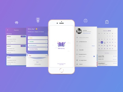 Edu My Way - Online Booking for Education design app branding ui ux user interface userexperience © maya el murr education