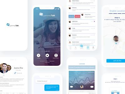 Lemme Talk - Dating App branding design wearemaze © maya el murr user interaction user experience ux ui ios lemme talk dating app dating