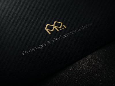 PPM Logo on Textile sliver gold fiber carbon titanium yacht logo branding